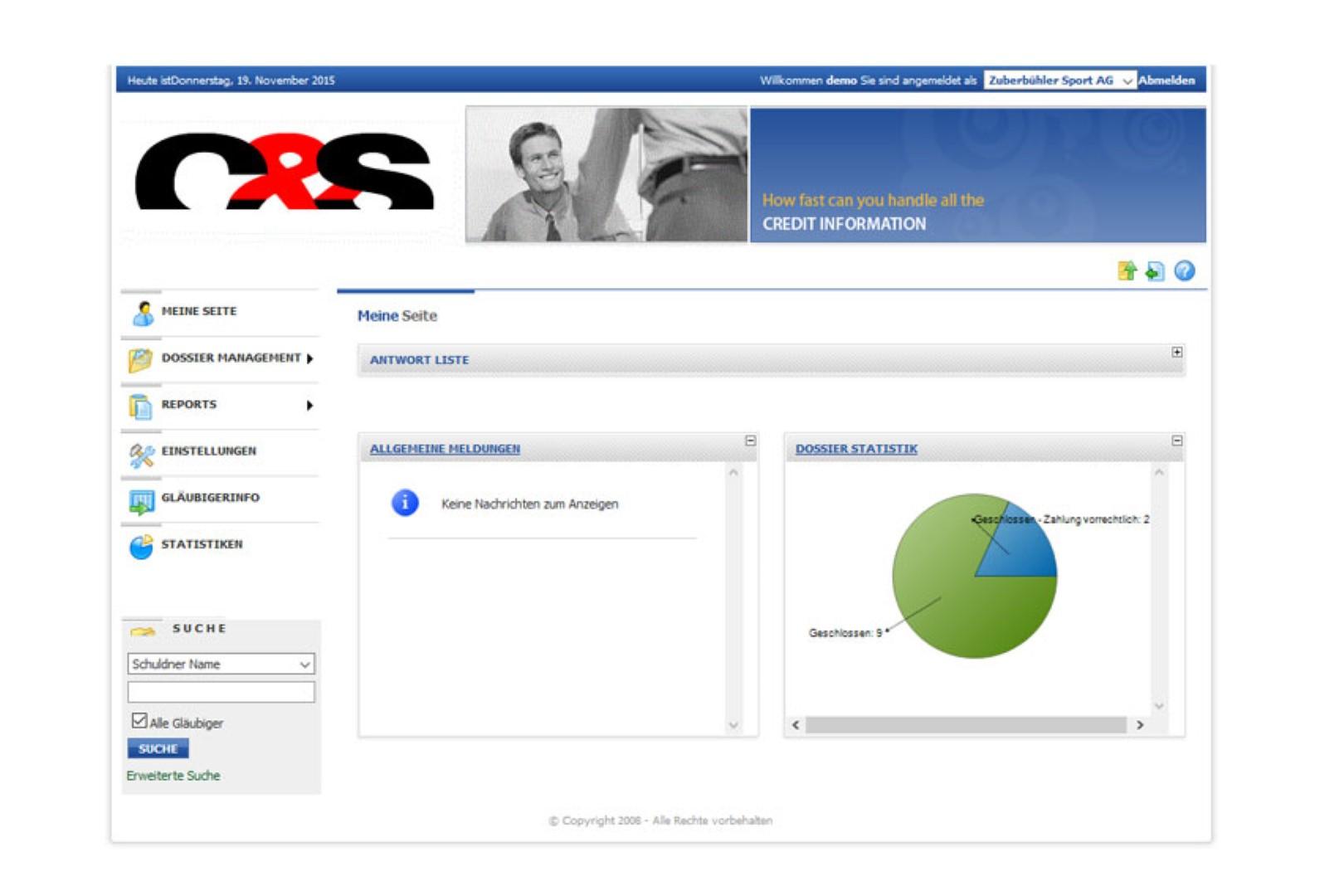 Inkasso online Webinkasso C&S